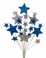 Christening cake topper decoration in laser and silver - free postage